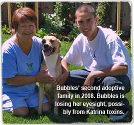 Bubbles with her second adoptive family in 2008 268x250