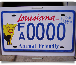 Animal friendly license plate raises funds for sterilization 303x261
